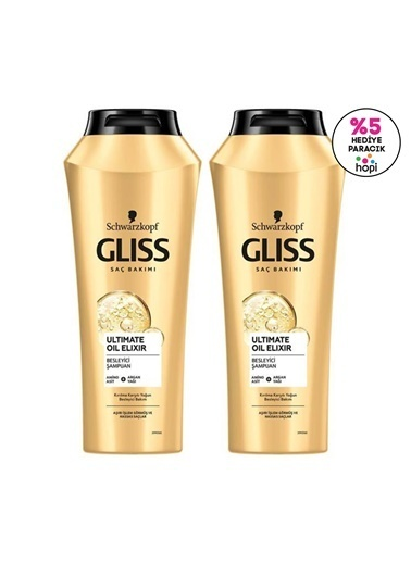 Gliss Ultimate Oil Elixir Besleyici şampuan 500 Ml 2'Li Renksiz